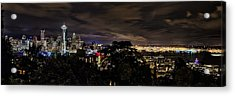 Kerry Park Night View Acrylic Print by James Heckt