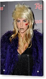 Kesha At The After-party For Rolling Acrylic Print by Everett