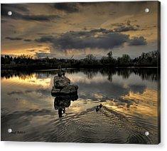 Ketring Lake Sunset Acrylic Print