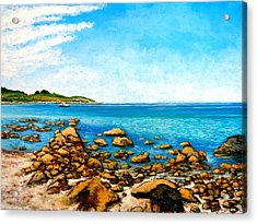 Acrylic Print featuring the painting Kettle Cove by Tom Roderick