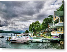 Keuka Lake Shoreline Acrylic Print by Steven Ainsworth