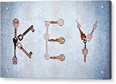 Key Creation Acrylic Print by Kelly Sillaste