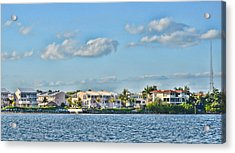 Key Largo Houses Acrylic Print by Chris Thaxter