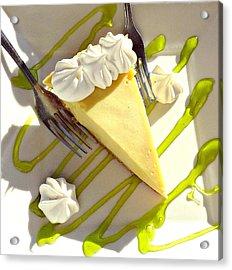 Key Lime Pie Acrylic Print by Jo Sheehan