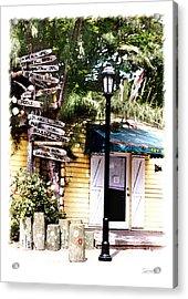 Key West Signs Acrylic Print by Linda Olsen
