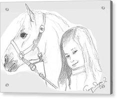 Kiara And Pony Acrylic Print
