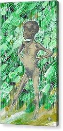 Kid Acrylic Print by Agenor  Marti