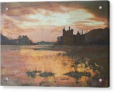 Acrylic Print featuring the painting Kilchurn Castle Scotland by Richard James Digance