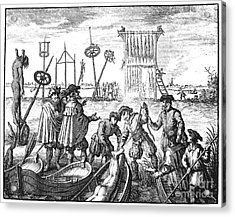 Killing Of Anabaptists Acrylic Print by Granger