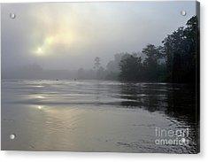 Kinabatangan River At Sunrise Acrylic Print by Sami Sarkis
