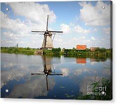 Kinderdijk Windmill Acrylic Print