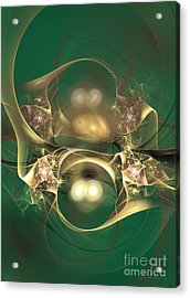 Kindred Spirits - Abstract Digital Art Acrylic Print by Sipo Liimatainen
