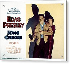 King Creole, Elvis Presley, Carolyn Acrylic Print by Everett