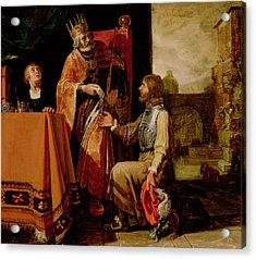 King David Handing The Letter To Uriah Acrylic Print