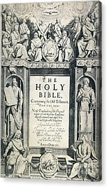 King James I Bible, 1611 Acrylic Print by Granger