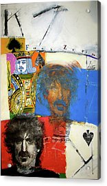 Acrylic Print featuring the mixed media King Of Spades 48-52 by Cliff Spohn