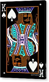 King Of Spades Acrylic Print by Wingsdomain Art and Photography