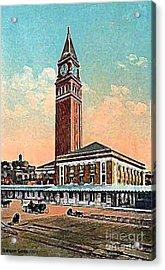 King St. Railroad Station In Seattle Wa In 1910 Acrylic Print by Dwight Goss