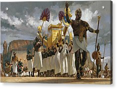 King Taharqa Leads His Queens Acrylic Print by Gregory Manchess