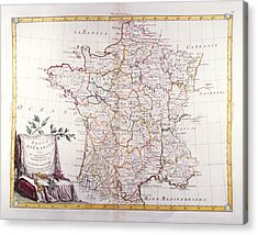 Kingdom Of France Divided Into Its Governments Acrylic Print by Fototeca Storica Nazionale