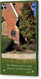 Kingdom Of God Acrylic Print by Larry Bishop