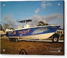 Kingfish Boat Wrap Acrylic Print