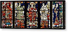Kings And Holy Men Medieval Stained Glass Collage Acrylic Print by Lisa Knechtel