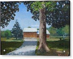 Kingsbury Farm Acrylic Print by Mark Haley