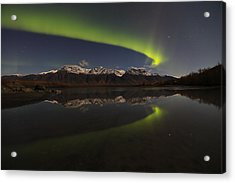 Knik Alaska Northern Lights Acrylic Print by Sam Amato