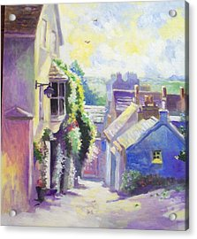 Acrylic Print featuring the painting Kinsale Co Cork by Paul Weerasekera