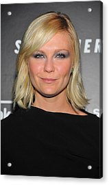 Kirsten Dunst At Arrivals For Somewhere Acrylic Print by Everett