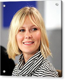 Kirsten Dunst At The Press Conference Acrylic Print by Everett