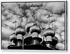Acrylic Print featuring the photograph Kishi Domes Black And White by Rick Bragan