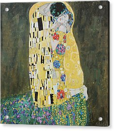 Kiss Copy Of Gustav Klimt Acrylic Print