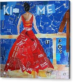 Kiss Me Acrylic Print by Lynn Chatman