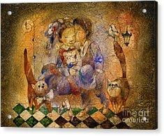 Kiss Acrylic Print by Svetlana and Sabir Gadghievs