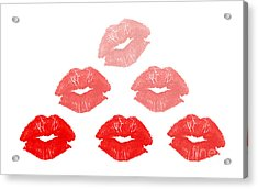 Kisses In Pyramid Shape Acrylic Print by Blink Images