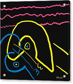 Kissing On The Beach Acrylic Print by Alec Drake