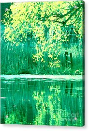 Kissing Yesterday Acrylic Print
