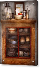 Kitchen - The Cooling Cabinet Acrylic Print by Mike Savad