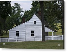 Kitchen And Slave Quarters Appomattox Virginia Acrylic Print by Teresa Mucha