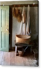 Kitchen Door In Old House Acrylic Print by Jill Battaglia