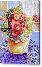 Kitchen Primrose II Acrylic Print by Ann  Nicholson