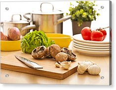 Kitchen Still Life Preparation For Cooking Acrylic Print
