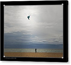 Acrylic Print featuring the photograph Kite In The Sky by Pedro L Gili
