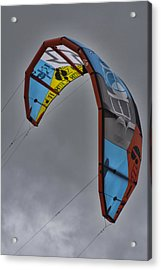 Kite Surfing Acrylic Print by Douglas Barnard