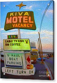 Kiva Motel - Needles Ca Acrylic Print by Gregory Dyer
