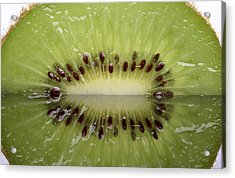 Kiwi Fruit Reflected On Glass Acrylic Print by Mark Duffy