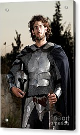 Knight In Shining Armour Acrylic Print by Yedidya yos mizrachi