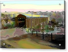 Knights Ferry Covered Bridge Acrylic Print by Charles Shoup